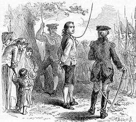 1776 Hanging of James Billingsley
