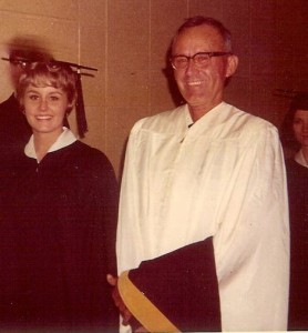 Linda Jane Brooks with father WF Brooks_ACU grad_1968