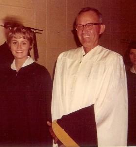 Linda Jane Brooks with father WF Brooks_ACU grad_1968