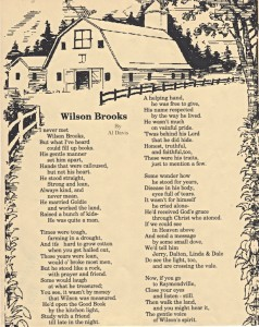 Wilson Brooks_poem by Al Davis