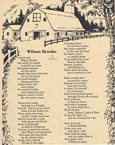 Wilson Brooks_poem by Al Davis