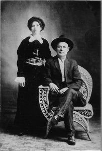 1910 circa_George and Ona Mae (Hancock) Brooks circa 1910.B&W.5x7