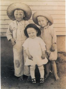 1917 circa_Brooks boys_Joe, Wilson, Steve_circa 1917