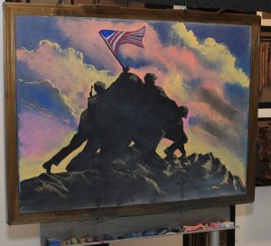 Pence_James_chalk-drawing_IwoJima